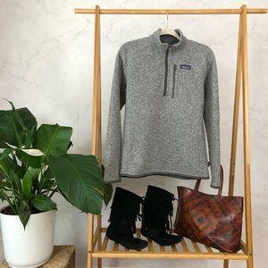 Patagonia Better Sweater Gray Quarter Zip Fleece